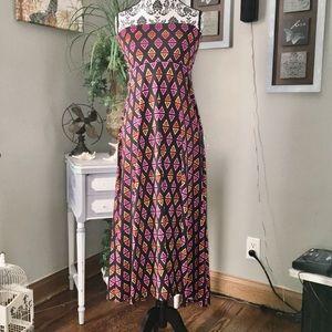 LulaRoe maxi Strapless Dress women's size S